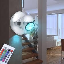 Schlafzimmer Lampe Silber Wand Leuchte Schlafzimmer Kugel Strahler Silber Fernbedienung