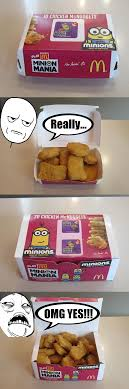 Chicken Nugget Meme - my reaction of size of chicken nuggets meme by nickanater1 on deviantart