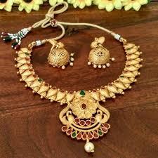 gold antique necklace sets images 1 gram gold antique finish classic collection necklace set classic jpg