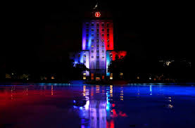 Flags Houston Houston And Texas Show Support For Paris Houston Chronicle