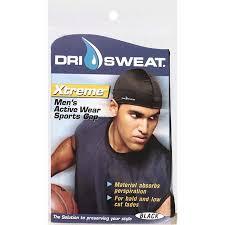 dri sweat headband buy dri sweat xtreme mens active wear sports cap black in cheap