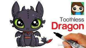 draw cute dragon easy toothless