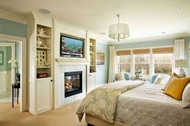 Contemporary Master Bedroom With Builtin Bookshelf By Garrison - Contemporary master bedroom design ideas