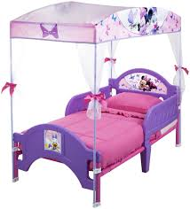 Canopy Bedroom Sets For Girls Bedroom Minnie Mouse Canopy Toddler Bed With Sheer Curtain And
