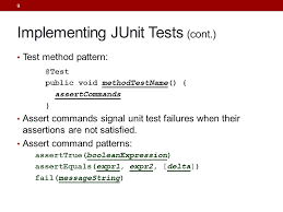 command pattern unit test java quality objectives understand how to verify the correctness of