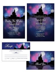 wedding invitation rsvp date digital magic kingdom castle wedding invitation save the date