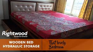 Indian Wooden Double Bed Designs With Storage Wooden Bed Design With Storage And Upholstered Headboard By