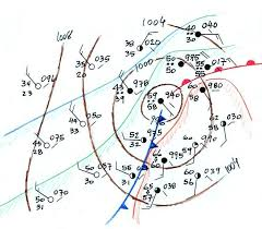 frontal boundary map surface weather map analysis