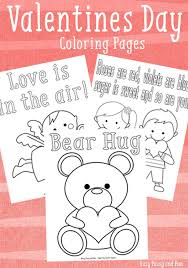 3 sweet valentines coloring pages easy peasy fun