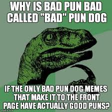 why is bad pun bad called bad pun dog if the only bad pun dog memes