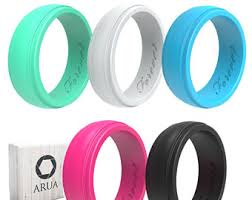 mens rubber wedding bands silicone ring etsy