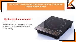 Compact Induction Cooktop Duxtop 1800 Watt Portable Induction Cooktop Countertop Burner 8100 Mc U2026