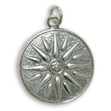 vergina sun sterling silver pendant jewelry