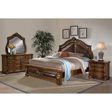morocco 6 piece king upholstered bedroom set pecan value city