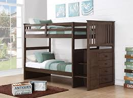 Bunk Bed Storage Pockets Gray Bunk Beds For Boys Or With Stairs Storage Drawers