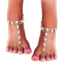 wedding barefoot sandals jewsun barefoot sandals with rhinestones and