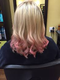 dyed pubic hair tmblr peach dip dye hair color 2017 hair color ideas pinterest dip