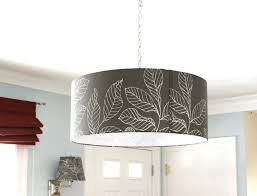 gray drum pendant light lighting drum pendant l shades make light shade poly silk by