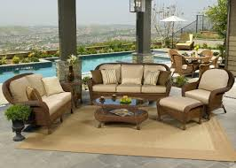 Wicker Patio Table Set Seating Wicker Patio Furniture Sets I Spacious Design