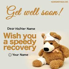 get well soon cards create custom get well soon greeting card with names