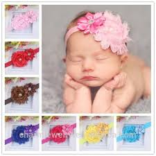 flower bands new grosgrain ribbon baby headbands boutique flower elastic