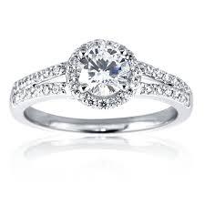 circle engagement ring with halo mazal brilliant cut halo engagement ring with two