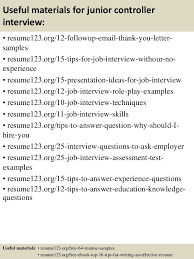 Sample Financial Controller Resume by Top 8 Junior Controller Resume Samples