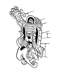 free mummy chased scooby coloring page download u0026 print online