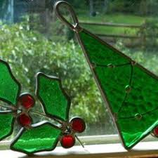 holly star suncatchers holiday christmas stained glass