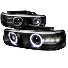 2001 chevy silverado fog lights 99 02 chevy silverado suburban tahoe angel eye halo led