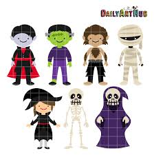 halloween animations clip arts halloween monsters clip art set daily art hub