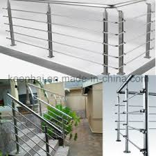 Stainless Steel Stair Handrails China Modern Design Prefab Metal Stainless Steel Stair Railing