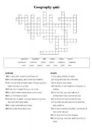 ks3 geography crosswords u0026 ce ks3 geography on the map the