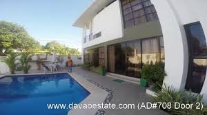 2 house with pool house for rent lease with swimming pool in davao city ad 708