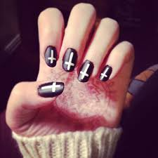 nail designs in black beautify themselves with sweet nails
