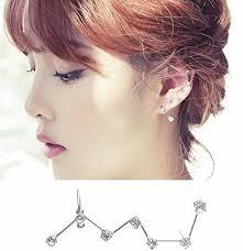 earrings for big earlobes megko 7 crystals big dipper shape stud earrings ear