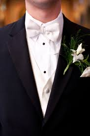 groom in black tux with white bow tie wedding ideas pinterest