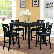 black dining room table set black counter height table set elegant dining room design with 7