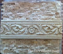 How To Tile Backsplash Kitchen Split Face Travertine Tile Backsplash The Diy Village