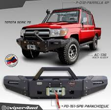 toyota land cruiser bumper vpr4x4 2007 toyota land cruiser 70 series ultima winch bumper pd