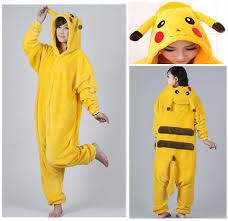 version pikachu unisex flannel pajamas adults