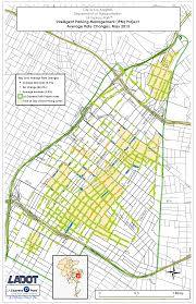 Map Of Los Angeles Area La Express Park Updates Parking Meter Rates On May 6th La