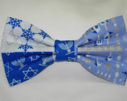hanukkah ties hanukkah bow tie etsy
