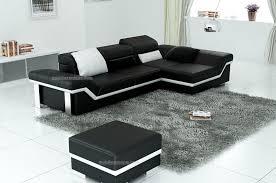 canapé d angle en cuir pas cher canapé d angle en cuir design italien pas cher avec pouf offert
