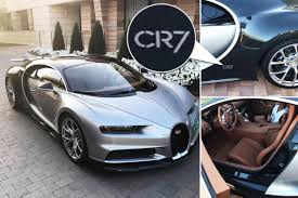 bugatti chiron 2018 cristiano ronaldo shows off his new 2 15m personalised cr7