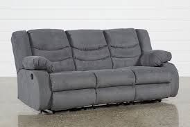 Reclining Sofa Haines Grey Reclining Sofa Living Spaces