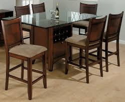 High Top Kitchen Table And Chairs Dining Round Glass Dining Table With Wooden Base Powder Room Gym