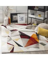 Modern Orange Rug Spectacular Deal On Safavieh Porcello Modern Abstract Light Grey