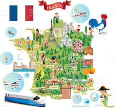 Toulouse France Map by Cartoon Map Of France Stock Vector Art 511990184 Istock
