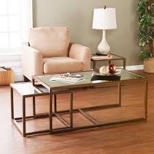 Coffee Table With Nesting Stools - willa arlo interiors alvis coffee table with nested stools